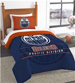 NHL Oilers Printed Twin Comforter & Sham Set