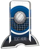 """6"""" Legacy TRUacrylic Volleyball 3/4"""" Thick Trophy"""