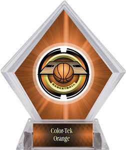 "2"" Saturn Basketball Orange Diamond Ice Trophy"