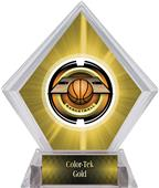 "2"" Saturn Basketball Yellow Diamond Ice Trophy"