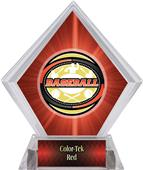 Classic Baseball Red Diamond Ice Trophy Label