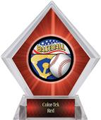 Americana Baseball Red Diamond Ice Trophy Label