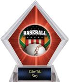 Patriot Baseball Red Diamond Ice Trophy Label