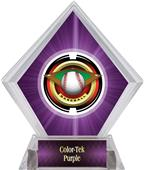 "2"" Saturn Baseball Purple Diamond Ice Trophy"