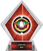"2"" Saturn Baseball Red Diamond Ice Trophy"
