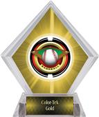 "2"" Saturn Baseball Yellow Diamond Ice Trophy"