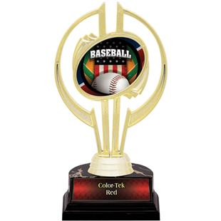 "Awards Gold Hurricane 7"" Patriot Baseball Trophy"