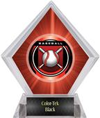 "2"" Legacy Baseball Red Diamond Ice Trophy"