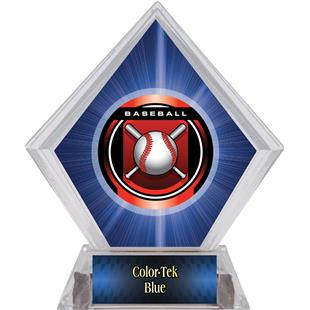 "2"" Legacy Baseball Blue Diamond Ice Trophy"