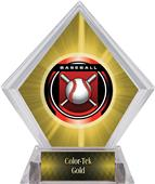 "2"" Legacy Baseball Yellow Diamond Ice Trophy"