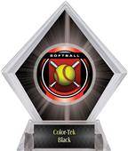 "2"" Legacy Softball Black Diamond Ice Trophy"