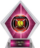 "2"" Legacy Softball Pink Diamond Ice Trophy"