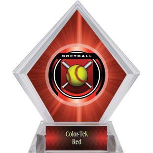 "2"" Legacy Softball Red Diamond Ice Trophy"