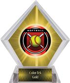 "2"" Legacy Softball Yellow Diamond Ice Trophy"
