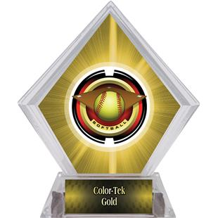 Awards Saturn Softball Yellow Diamond Ice Trophy