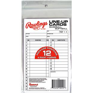 Rawlings Baseball Line-Up Cards (12 cards)
