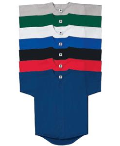Double Knit Button Front Baseball Jersey- CLOSEOUT