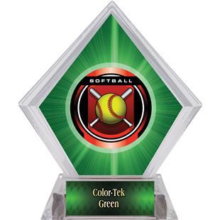 Awards Legacy Softball Green Diamond Ice Trophy