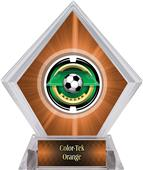 "2"" Saturn Soccer Orange Diamond Ice Trophy"