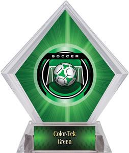 "2"" Legacy Soccer Green Diamond Ice Trophy"
