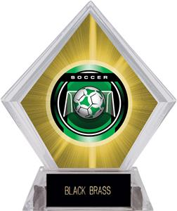 "2"" Legacy Soccer Yellow Diamond Ice Trophy"