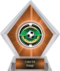 Awards Saturn Soccer Orange Diamond Ice Trophy