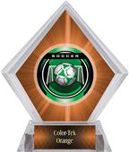 Awards Legacy Soccer Orange Diamond Ice Trophy