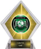 Awards Legacy Soccer Yellow Diamond Ice Trophy