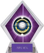 "2"" Saturn Volleyball Purple Diamond Ice Trophy"