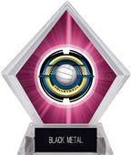 "2"" Saturn Volleyball Pink Diamond Ice Trophy"