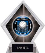"2"" Legacy Volleyball Black Diamond Ice Trophy"
