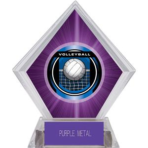 "2"" Legacy Volleyball Purple Diamond Ice Trophy"