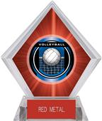 "2"" Legacy Volleyball Red Diamond Ice Trophy"