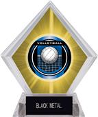 "2"" Legacy Volleyball Yellow Diamond Ice Trophy"