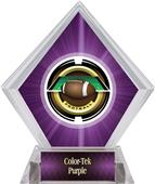 Awards Saturn Football Purple Diamond Ice Trophy