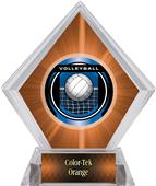 Awards Legacy Volleyball Orange Diamond Ice Trophy