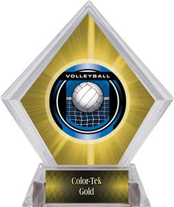 Awards Legacy Volleyball Yellow Diamond Ice Trophy