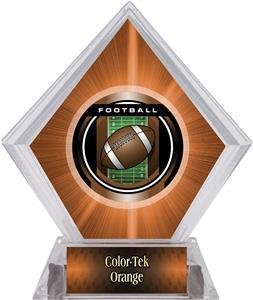 Awards Legacy Football Orange Diamond Ice Trophy