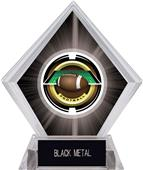 "2"" Saturn Football Black Diamond Ice Trophy"