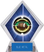 "2"" Saturn Football Blue Diamond Ice Trophy"