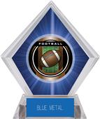 "2"" Legacy Football Blue Diamond Ice Trophy"