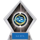 "2"" Saturn Swimming Black Diamond Ice Trophy"