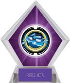 "2"" Saturn Swimming Purple Diamond Ice Trophy"