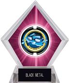 "2"" Saturn Swimming Pink Diamond Ice Trophy"
