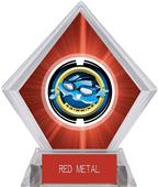 "2"" Saturn Swimming Red Diamond Ice Trophy"