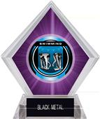 "2"" Legacy Swimming Purple Diamond Ice Trophy"