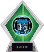 "2"" Legacy Swimming Green Diamond Ice Trophy"