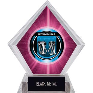 "2"" Legacy Swimming Pink Diamond Ice Trophy"