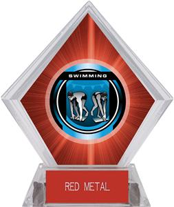 "2"" Legacy Swimming Red Diamond Ice Trophy"