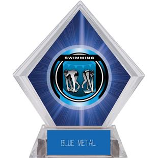"2"" Legacy Swimming Blue Diamond Ice Trophy"